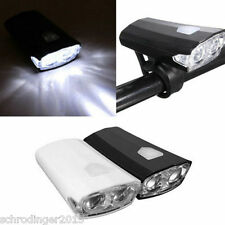 RAYPAL Black LED Bicycle Bike Cycle Front Head Light USB Rechargeable headlight