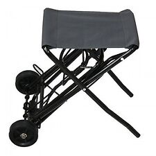 Heavy Duty Folding Trolley w Seat Camping Hiking Fishing Luggage Storaga Cart