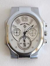 Philip Stein Large Stainless Steel Classic Watch with Diamond Numbers $1390