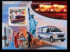 S. Tome MNH SS, Red Cross, Ambulance, America, Statue of Liberty, Strecher -R56