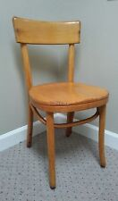 Mid Century Thonet Bentwood Cane Side Wooden Dining Chair