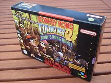 Donkey Kong Country 2-DIDDY 'S KONG QUEST Super Nintendo SNES RACCOLTA MINT