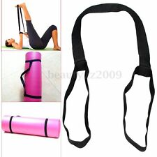 Black Elastic Yoga Stretch Strap Mat Band Training Belt Exercise Gym Sporting