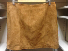 Old Navy Genuine Suede Leather Camel Skirt Size 12