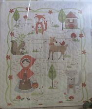 Little Red Riding Hood Crib Cover Quilt Stamped Cross Stitch Kit 46300 Bucilla