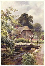 Hangman's Cottage Dorchester, Ernest Haslehust print mounted ready to frame
