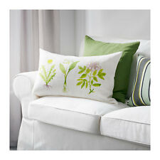 IKEA Dorthy Cushion Cover Soft White Pillow Botanical Floral Button NEW/NIP Last