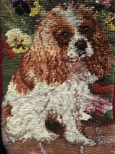 Wool Needlepoint Christmas Stocking ~ Cavalier King Charles ~ Cocker Spaniel Dog