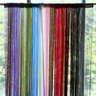 Line String Window Curtain Tassel Door Fringe Panel Room Divider Scarf Valance W