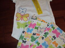 Sz 7 Girls The Company Store Kids Butterfly Summer Pajama Set Pajamas 2 Piece