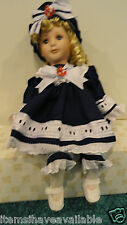Nautical Nelle Porcelain Doll ~ Heritage Signature Collection ~ sailor ~ NEW