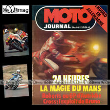 MOTO JOURNAL N°410 CROSS JEAN-JACQUES BRUNO YAMAHA XS 1100 24 HEURES DU MANS '79