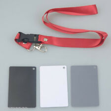 3 in 1 Digital White Black Grey Balance Cards Neck Strap for Digital Photography