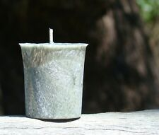 8pk 160hr/pack WHITE DIAMONDS Silver Pewter Hand Poured & Crafted Votive Candles