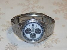 Men's Handsome Vintage  SEIKO   Silver Tone 7T32-7C60 Chronograph Quartz Watch