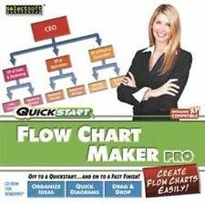 Flow Chart Maker Pro  Win XP Vista 7 8  Quick and Easy to Use  Brand New Sealed