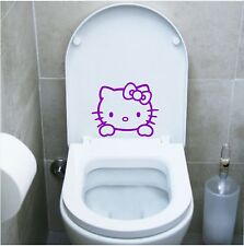 wall stickers adesivo wc hello kitty sanitari locali bagno water toilette