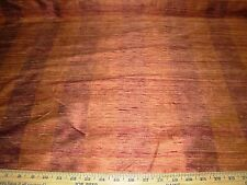 "~BTY~100% SILK ""SHALINI STRIPE"" POMEGRANATE~DRAPERY UPHOLSTERY FABRIC FOR LESS~"