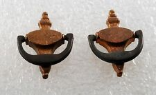 Vintage Pair Brass Mini Door Knocker Findings Gluing Jewelry Doll House Black