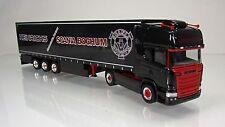 """Herpa 306669 Scania R ( Modell 2013 ) Topline Gardinenplanen-SZ """" Heinrichs """""""