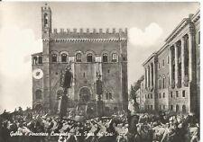160582 PERUGIA GUBBIO - FESTA DEI CERI - FOLCLORE Cartolina FOTOGRAFICA 1958