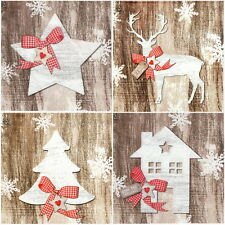 4 Single Table Party Paper Napkins for Decoupage Decopatch Craft Country X-Mas 8