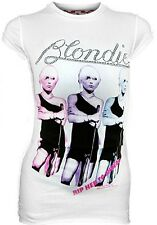 WoW AMPLIFIED Offi. BLONDIE Strass Rip Her To Shreds Rock Star Vintage T-Shirt L
