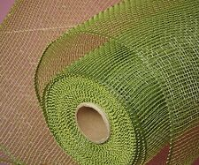 Moss Green Deco Poly Mesh 21 inch 10 Yards Solid color  NEW Wreath & Craft