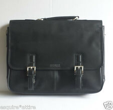 Kenneth Cole Leather Black Briefcase New With Tags, with shoulder strip NWT