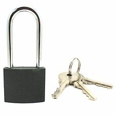 WIDE 50mm LONG SHACKLE PADLOCK Large Lock+3 KEYS Shed Gate Garage Security NEW