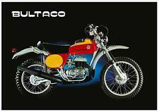 BULTACO Poster Frontera 360 250 Mk9 1975 1976 Classic Enduro VMX Suitable Frame