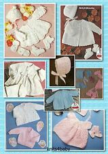 150+ Vintage PATTERNS~ Wonderful Selection of BABY CROCHET & KNITTING GARMENTS