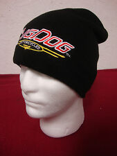 BIG DOG MOTORCYCLES KNIT BEANIE EMBROIDERED VINTAGE LOGO HAT UNISEX BLACK K-9
