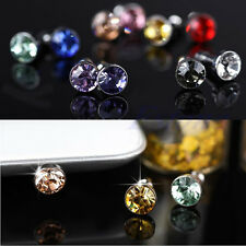 100x 3.5mm Crystal Bling Anti Dust Stopper Earphone Plug Cap For iPhone Samsung