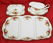 ROYAL ALBERT OLD COUNTRY ROSES 3 PC Service Collection