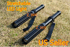 Zoomable CREE Q5 LED Stretchable Spiked Bat Mace LED Flashlight Torch Security