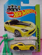 case D/E 2014 i Hot Wheels 2013 Dodge '13 SRT VIPER #203 ✿Yellow✿HW Garage