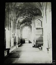 Glass Magic Lantern Slide CHRISTCHURCH CATHEDRAL NORTH AISLE C1910 OXFORD