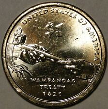 UNC US 2011 Sacagawea Native American Wampanoag Treaty dollar $1 coin