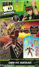 Ben 10 Omniverse Omni-Kit Figure Heatblast Collect and Construct Kids Gift Set
