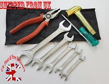 NEW ROYAL ENFIELD Bullet Motorcycle 8 piece TOOL KIT WITH POUCH HIGH QUALITY