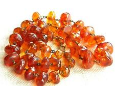 vintage faceted AMBER necklace ~ 63g~ old handmade beads on wires