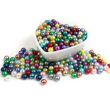 1000Pcs 10mm Faux Pearl Easter Beads for Pendant Charm Bracelet Necklace Jewelry