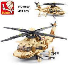 Sluban B0509 Army Black Hawk Helicopter Figures Building Block Toy Fit with LEGO
