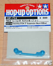 TAMIYA 53714 TB EVOLUTION IV Suspension mount B (BLU) (TA05 / TB02), NIP