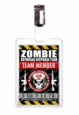 Zombie Outbreak Team member ID Badge Cosplay Prop Comic Con Halloween