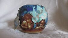 Vintage Large FIMO Polymer Clay/Glass Globe Candle Holder Old Masters Angels