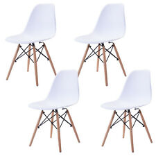 COSTWAY Set of 4 Mid Century Modern Eames Style DSW Dining Side Chair Wood Leg
