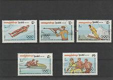 Olympische Spiele Sarajevo 1984, Kambodscha MiNr 517-521 gestempelt