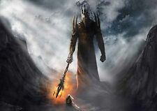 POSTER A4 PLASTIFIE-LAMINATED(1 FREE/1 GRATUIT)*LORD OF THE RING SAURON VS ISILD